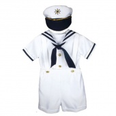 Kids Baby Toddler Boy Costumes Clothes Three Pieces T Shirt Overalls And Hat Set
