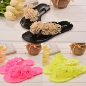 Fashion Women's Casual Summer Floral Beach Flat Flip Flop Sandals Slippers Shoes