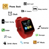 Fashion Unisex Square Bluetooth Smart Phone Watch Wristwatch Android Smartphone 3 Colors