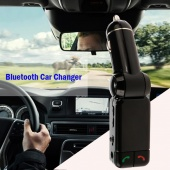 LCD Bluetooth Car Kit MP3 FM Transmitter SD Dual USB Charger Handsfree for IPhone