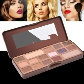 16 Colors Earth Color Eyeshadow Cosmetic Makeup Palette & Mirror Set