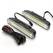 2 X Super Bright LED Daytime Running Light with Turn Signal Light Cool White Fog Lamp