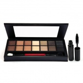 Fashion Women 14 Colors Cosmetic Makeup Eye Shadow Palette with Brush Mirror Mascara