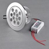 12W AC85-265V 6500K-7000K 1200LM COLD White LED Down Ceiling Light Bulb Lamp
