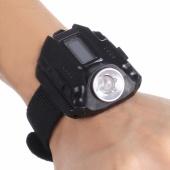 Fashion Rechargeable Wrist Watch LED Flashlight Torch Waterproof Outdoor Watch Flashlight