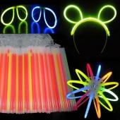 100PCS 7 Colors Fashion Party Glow Light Sticks Bracelet DIY Bracelets