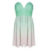 Bustier Summer Womens Dress Fashion Deep V Strap Chiffon Dress