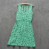 Fashion Women's Ladies Sleeveless Hollow Out Back Slim Fitting Dress