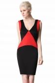 Stylish Lady Women's Fashion Sleeveless V-Neck Sexy Slim Dress