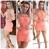 Women's Ladies Sexy Off-Shoulder Bodycon Cocktail Party Mini Dress