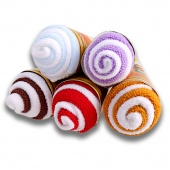 Portable Double Color Cute Soft Washcloth Ice Cream Towel Gift Wedding Favors 5 Packs