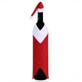 Christmas Decorations Best Wine Bottle V-neck Clothes Gift Bags Cover Xmas Santa Bottle Cap Set