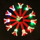 12 Pack Christmas Decorations Slap Bracelet Wristband Bangle Party Favor with LED Light
