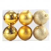 6Pcs 78mm Acrylic Polishing Sequins Matte Christmas Tree Decor Hanging Ball Party Festival Supplier