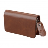 Men Synthetic Leather Wallet Solid Clutch Coin Purse Holder Keychain Cover Car Key Case