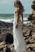 Lagoon Plumeria Lace Dress