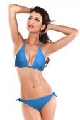 Blue Push-up Triangular Bikini Set