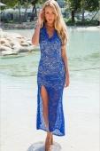 Lace Overlaid Maxi Dress