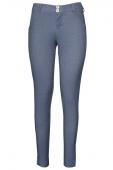 Shaping Effect Skinny Bluish Denim Jersey Pants