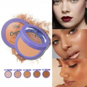 Universal Forehead Makeup Highlighting Powder Women Face Acne Mark Shadower with Mirror