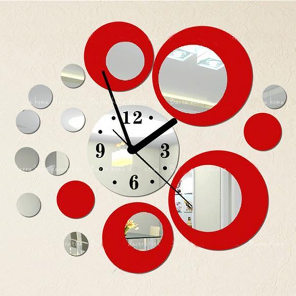 Fashion Diy Stickers Home Decoration Acrylic Mirror Clocks Surface Modern Design Furniture Sticker