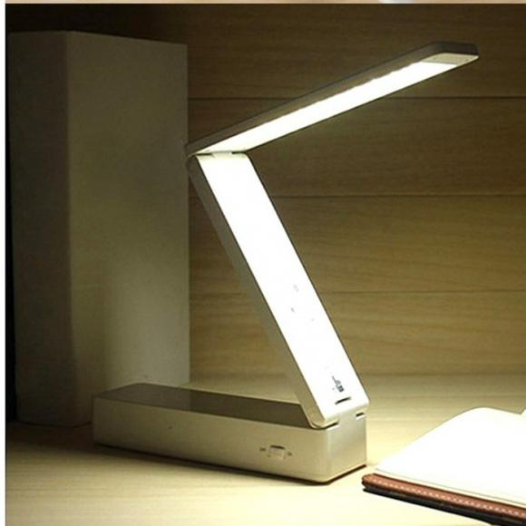 30 LED Foldable Rechargable Reading Desk Table Lamp Light Control Folding
