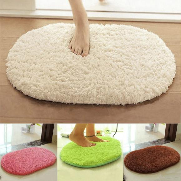Anti-slip Soft Absorbent Bath Bathroom Bedroom Floor Plush Mat Rug