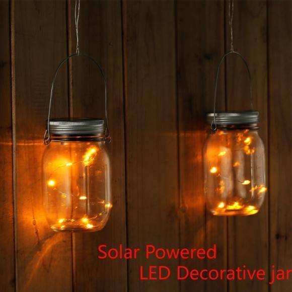Buy 10 Led Solar Solar Light Up Jar Firefly Lights Rechargeable Decorative Lighting Jar For Home