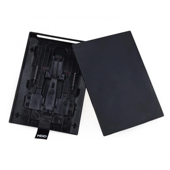 Hard Disk Drive HDD Case Shell Cover for Microsoft Xbox 360 Slim Black