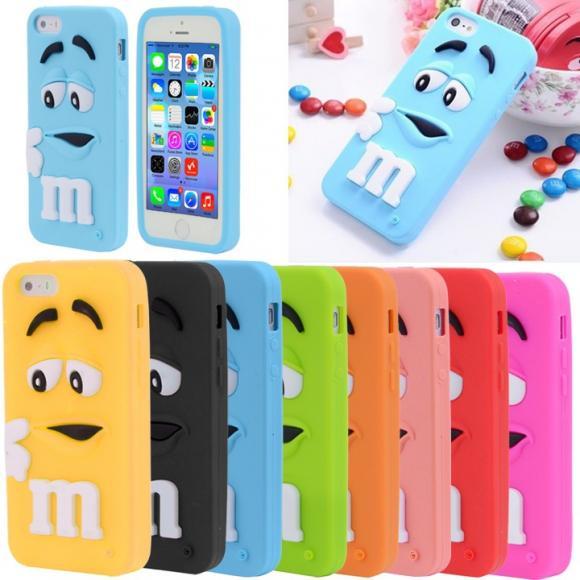 Rubber Soft Cute Design Silicone Gel Skin Bumper TPU Case Cover for Iphone 5/5S