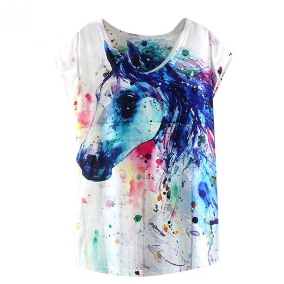 Women Summer Loose T-shirt Summer Loose T-shirt Batwing Sleeve T-Shirt