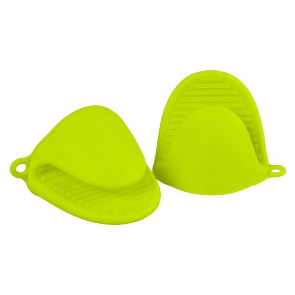 Set of 2 Kitchen Silicone Mini Pinch Oven Mitts Pot Holders Gloves Heat Resistant